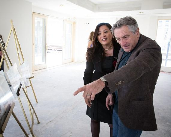 Reviewing the current Nobu Villa renderings with Nobu Hotel General Manager Gigi Vega