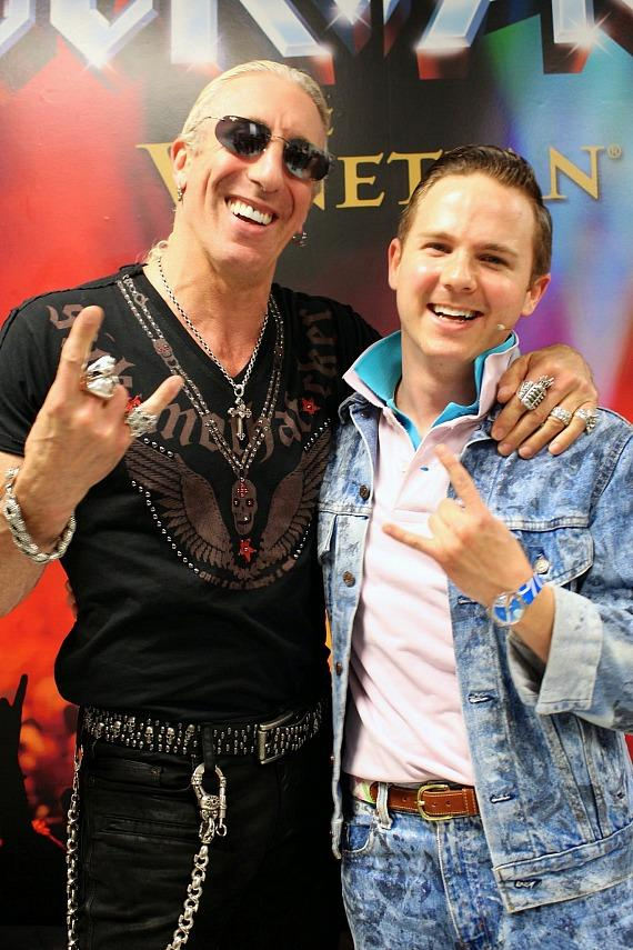 Dee Snider with Dane Biren of Rock of Ages Las Vegas