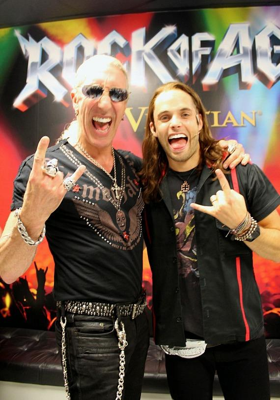 Dee Snider with Justin Mortelliti of Rock of Ages Las Vegas