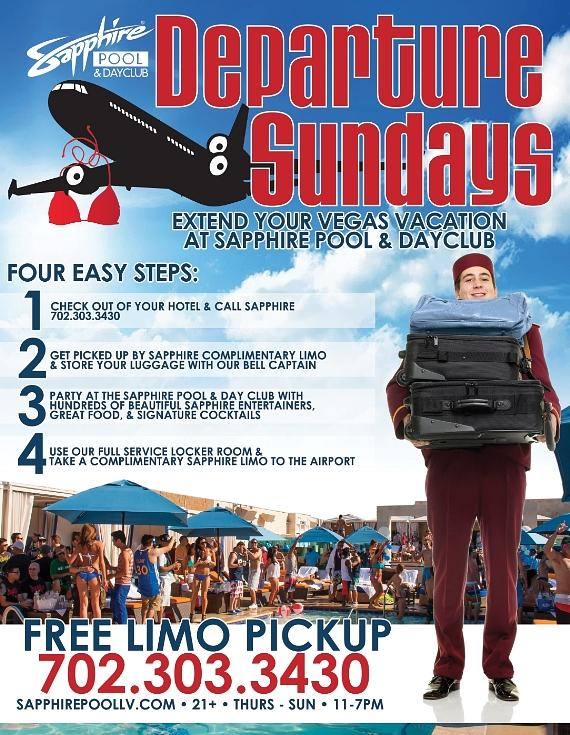 Now you can extend your Vegas vacation with Departure Sundays!