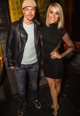 """Dancing with the Stars"" pros Derek and Julianne Hough at TAO Nightclub in Las Vegas"