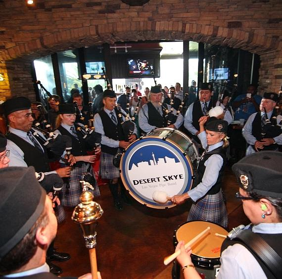 Desert Skye Las Vegas Pipe Band performing at McFadden's