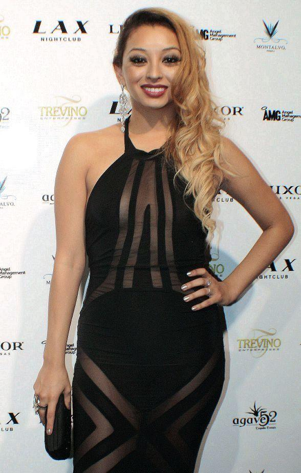 Desiree Estrada on red carpet at LAX Nightclub