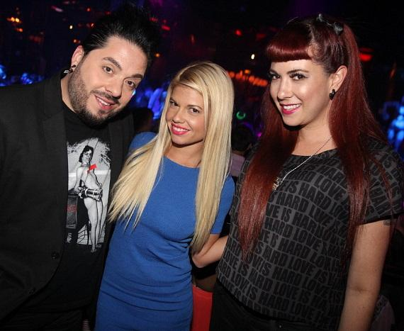 Destin Pfaff, Chanel West Coast and Rachel Federoff at Vanity