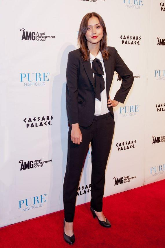 Dia Frampton on red carpet at PURE Nightclub