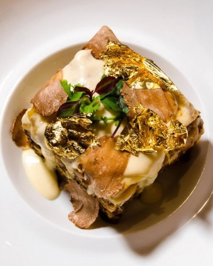 "$100 ""Diamond and Gold"" Lasagna Offered by Portofino at The Mirage Hotel & Casino"