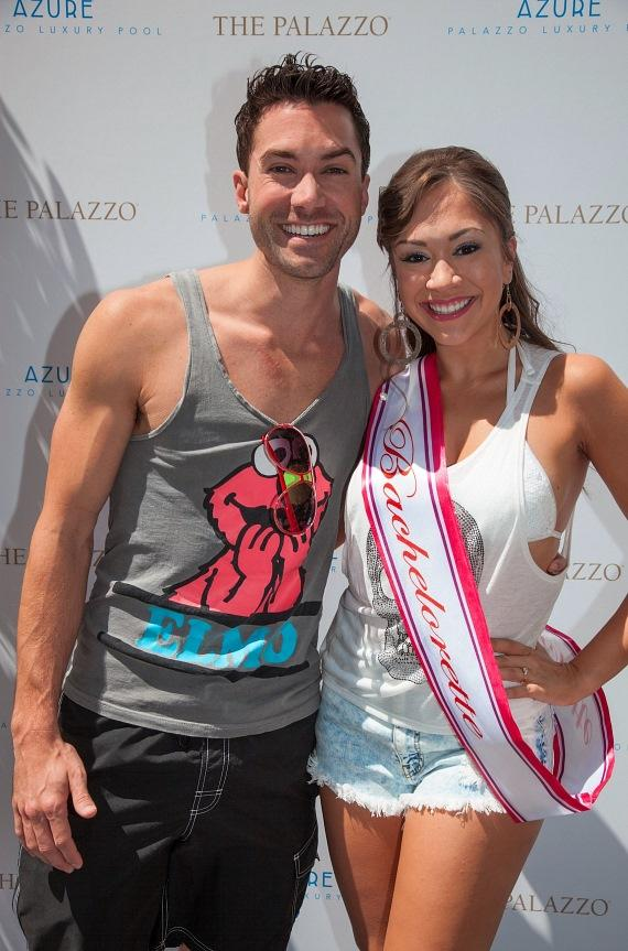 American Idol's Diana DeGarmo and Ace Young at Azure Luxury Pool at The Palazzo Las Vegas