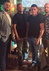 UFC Fighters Nate & Nick Diaz, NBA Player Alex Len at Sake Rok Las Vegas