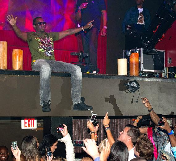 Diddy on stage at TAO