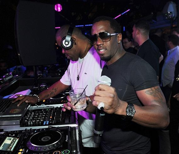 P. Diddy in DJ booth