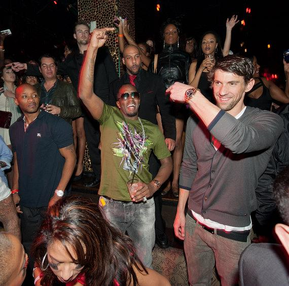Diddy and Michael Phelps at TAO