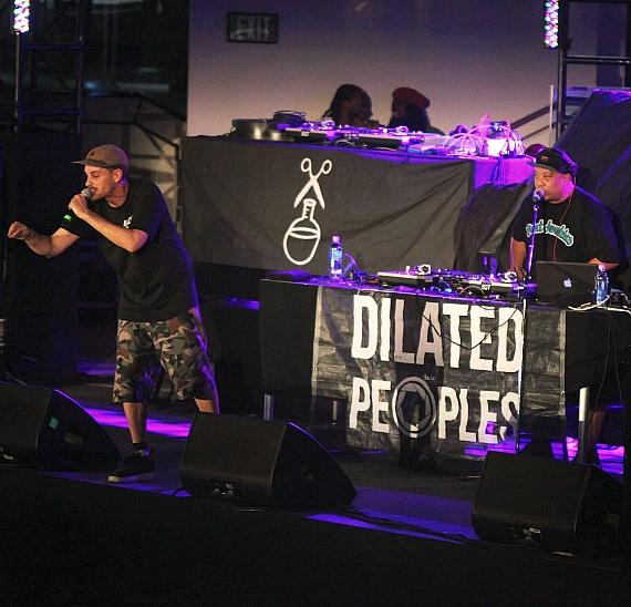 Dilated Peoples performs at Boulevard Pool at The Cosmopolitan of Las Vegas