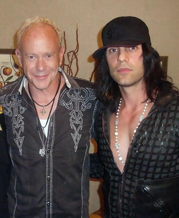 Director Randy Johnson with Criss Angel on Monday, April 16