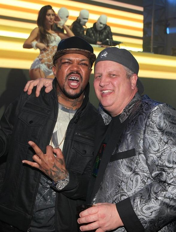 Three 6 Mafia's Oscar Winner DJ Paul celebrates his birthday and son Nautica's birthday at Andiamo Italian Steakhouse inside the D Las Vegas