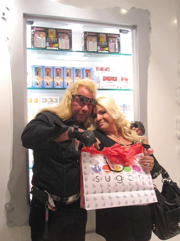 Dog and Beth Chapman at Sugar Factory, Paris Las Vegas