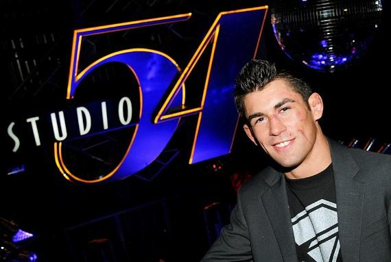 Dominick Cruz celebrates victory over Urijah Faber at Studio 54, Las Vegas