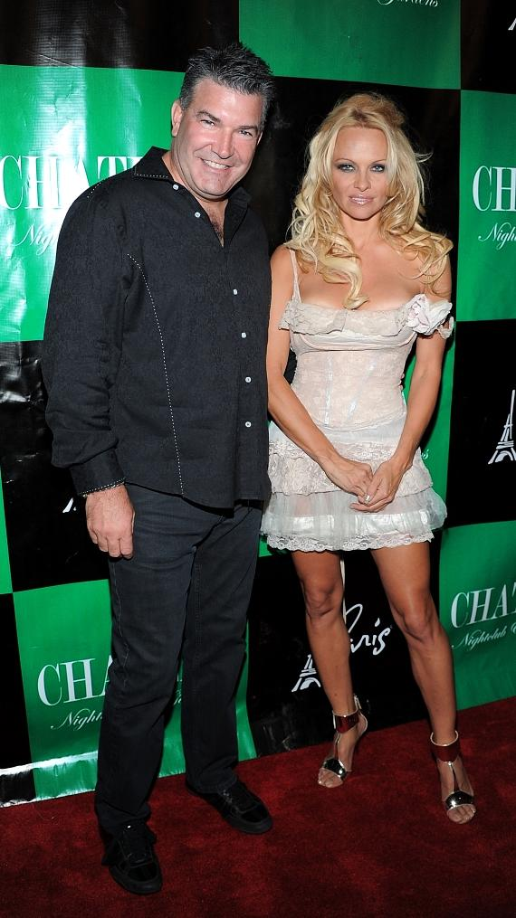 Don Johnson and Pamela Anderson walk the red carpet at Chateau Nightclub & Gardens