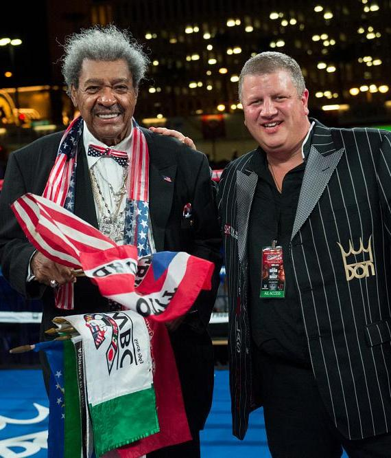 Don King with the D owner Derek Stevens