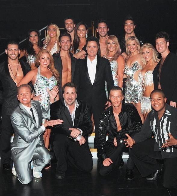Donny Osmond with cast of Dancing with the Stars Live in Las Vegas