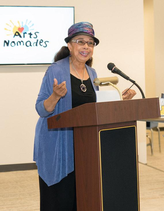 Dr. Linda E. Young discusses CCSD's involvement in Arts Nomades