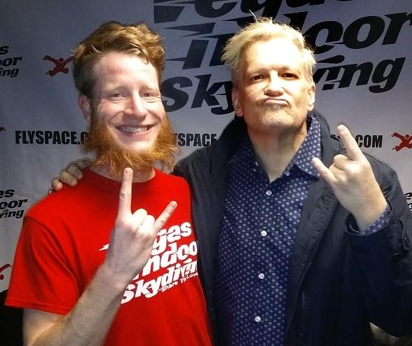 Comedian Drew Carey Earns his Wings at Vegas Indoor Skydiving