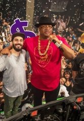 E-40, DJ-Trio Cash Cash and Michael Buffer at Marquee Nightclub in The Cosmopolitan of Las Vegas