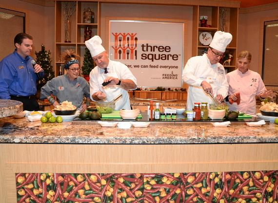 Susan Feniger, George W. Smith, Mary Sue Milliken and Brian Burton cook-off