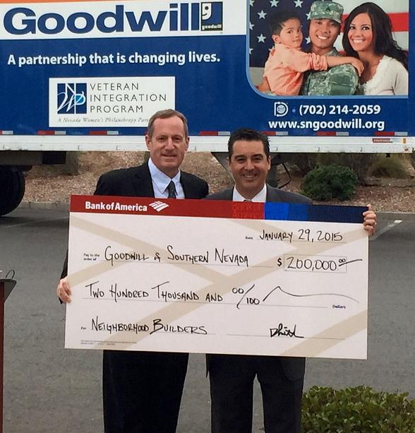 Goodwill Receives $200,000 Bank of America Grant to Fund Veteran Integration Program (VIP)