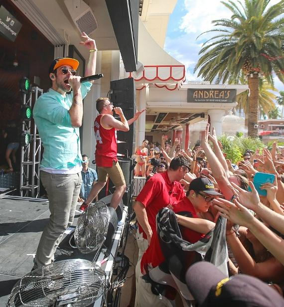 Macklemore & Ryan Lewis performs at Encore Beach Club at Wynn
