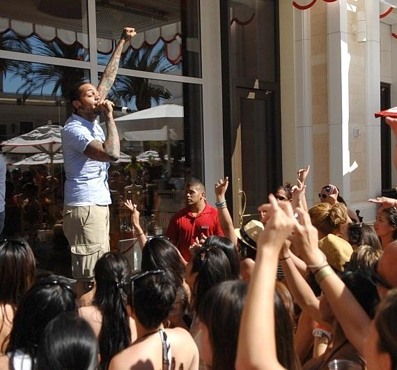 Travie McCoy performs at Encore Beach Club