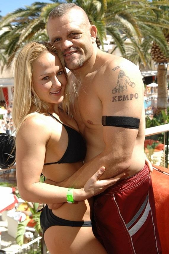 Chuck Liddell and lady friend at Encore Beach Club