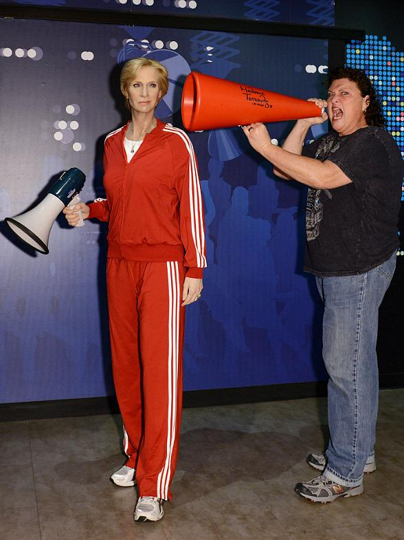 Dot Marie Jones of Glee Unveils TV ZONE Madame Tussauds
