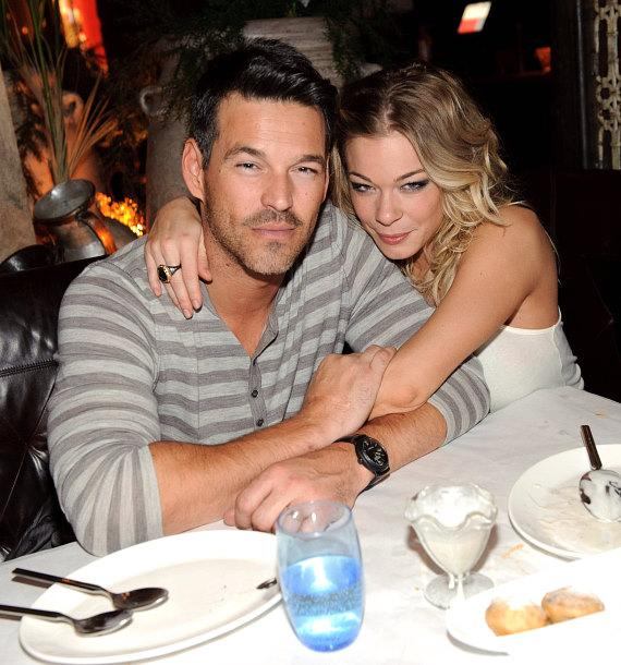 Eddie Cibrian and LeAnn Rimes at LAVO
