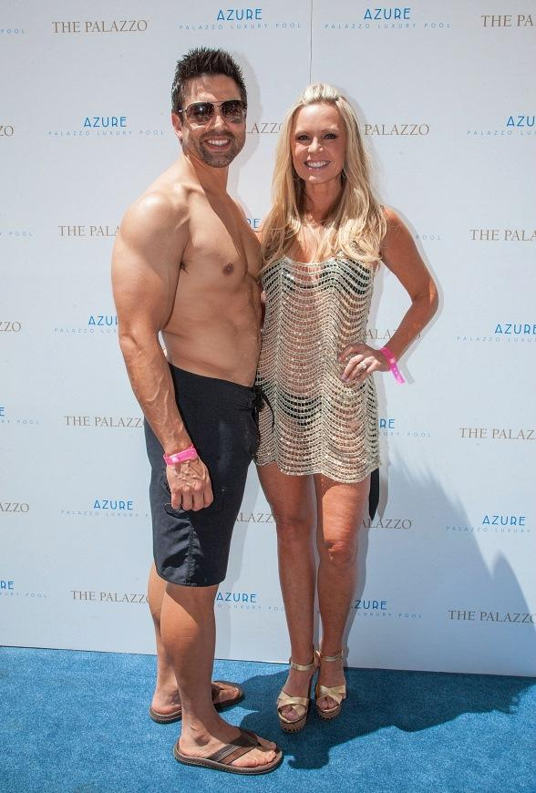 Tamra Barney and Fiancé Eddie Judge Celebrate at Azure Luxury Pool at The Palazzo Las Vegas
