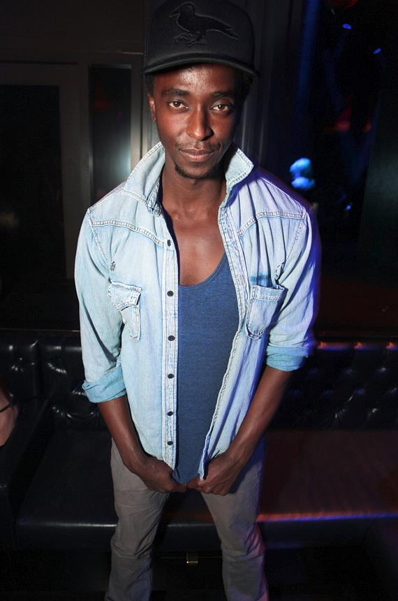 Edi Gathegi enjoying the night at Chateau Nightclub & Gardens in Las Vegas