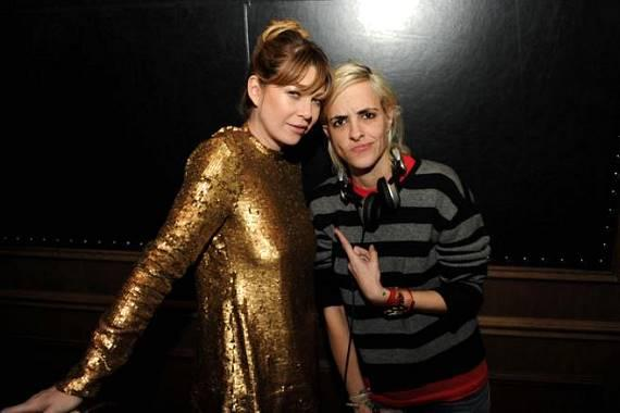 Ellen Pompeo and Samantha Ronson