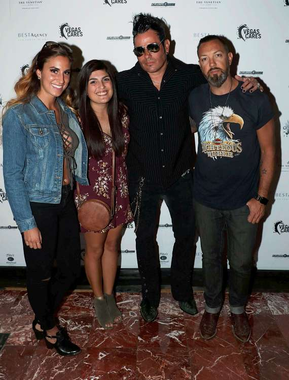 "Elvis Monro & The Echos with Nicole & Nicole at ""Vegas Cares"" Benefit at The Venetian Las Vegas"