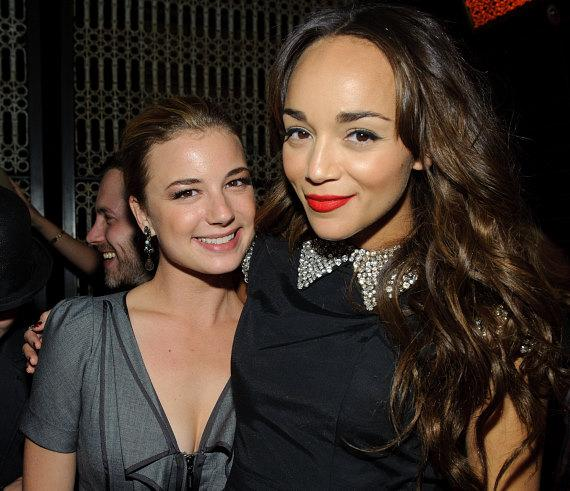 Emily VanCamp and Ashely Madekwe at LAVO