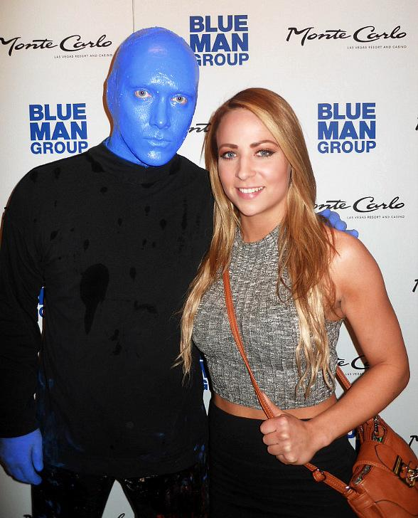 WWE wrestler Emma spotted at Blue Man Group at Monte Carlo Resort and Casino