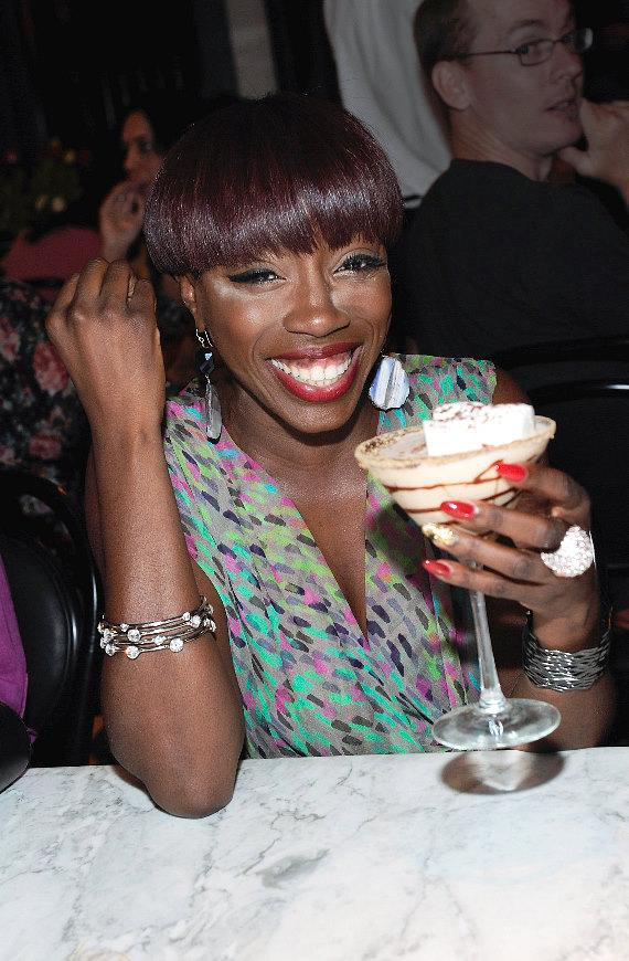 Estelle Enjoys a S'Mores Martini at Sugar Factory American Brasserie