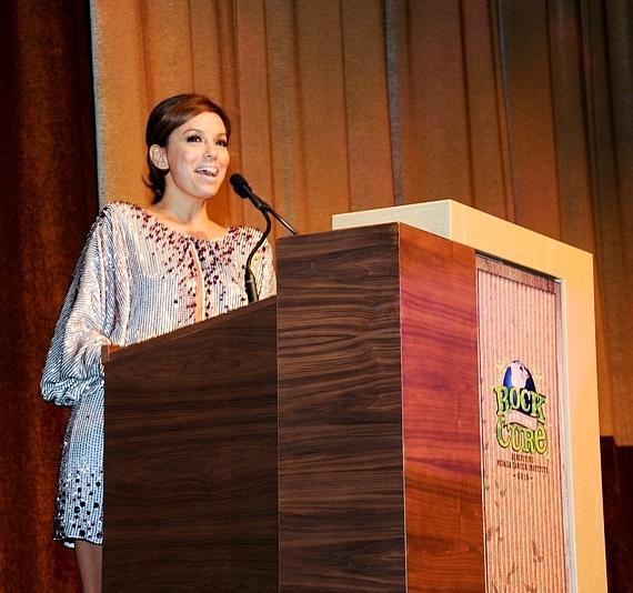 Eva Longoria-Parker on stage at Nevada Cancer Institute's Rock for the Cure Las Vegas