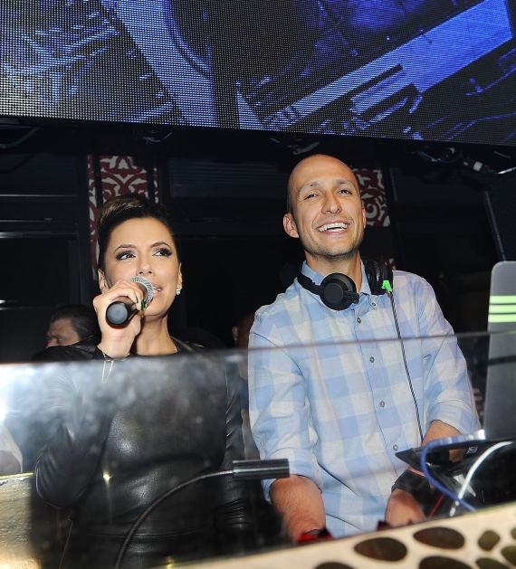 Eva Longoria and DJ Vice at PADRES Gala After Party at TAO
