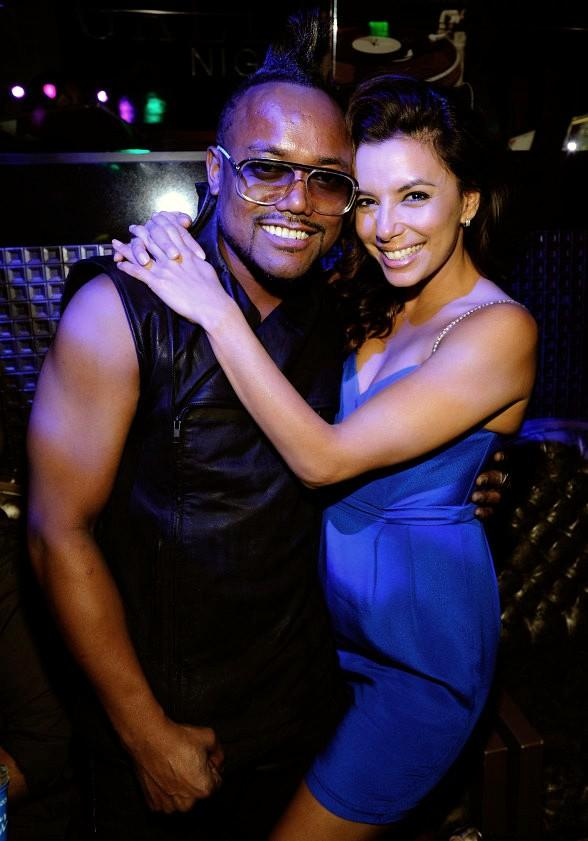 Eva Longoria and apl.de.ap at Gallery Nightclub