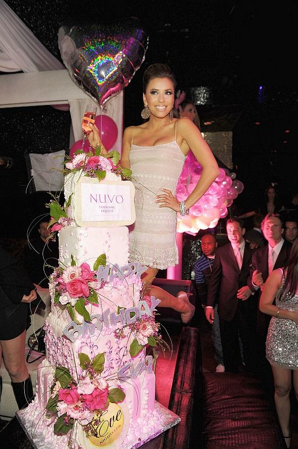 Eva Longoria celebrates birthday at Eve Nightclub at Crystals in CityCenter Las Vegas
