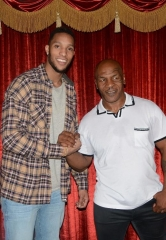 "Boston Celtics star Evan Turner, ""Love & Hip Hop: Hollywood"" star Hazel-E and others attend ""Mike Tyson Undisputed Truth"" at MGM Grand"