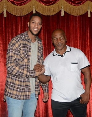 """Boston Celtics star Evan Turner, """"Love & Hip Hop: Hollywood"""" star Hazel-E and others attend """"Mike Tyson Undisputed Truth"""" at MGM Grand"""