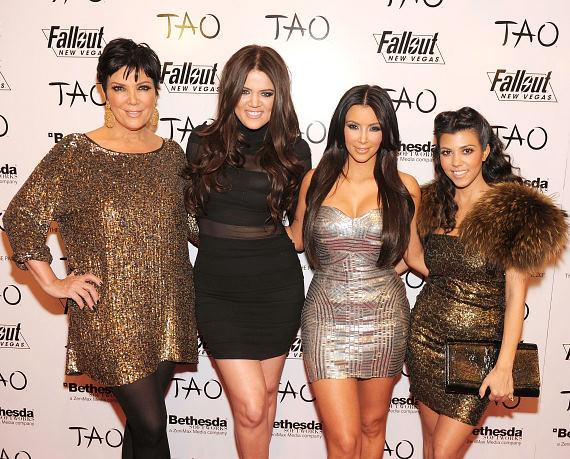 Kris, Khloe, Kim Kardashian, Kourtney at TAO