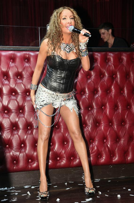 Lorena Peril gets the club hyped with her performance at LAX Nightclub