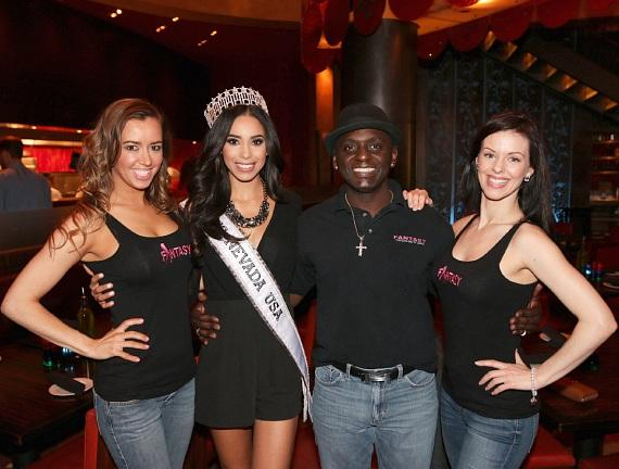 Mariah of FANTASY at Luxor, Miss Nevada USA 2015 Brittany McGowan with Sean E. Cooper and Tracey of FANTASY