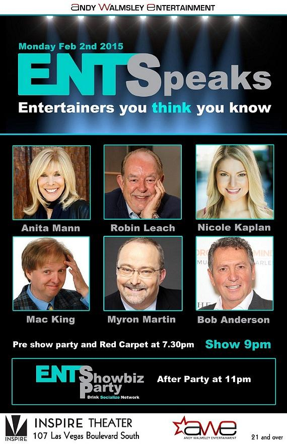 Robin Leach, Anita Mann, Nicole Kaplan, Mac King, Myron Martin, Bob Anderson to Speak at EntSpeaks Feb. 2